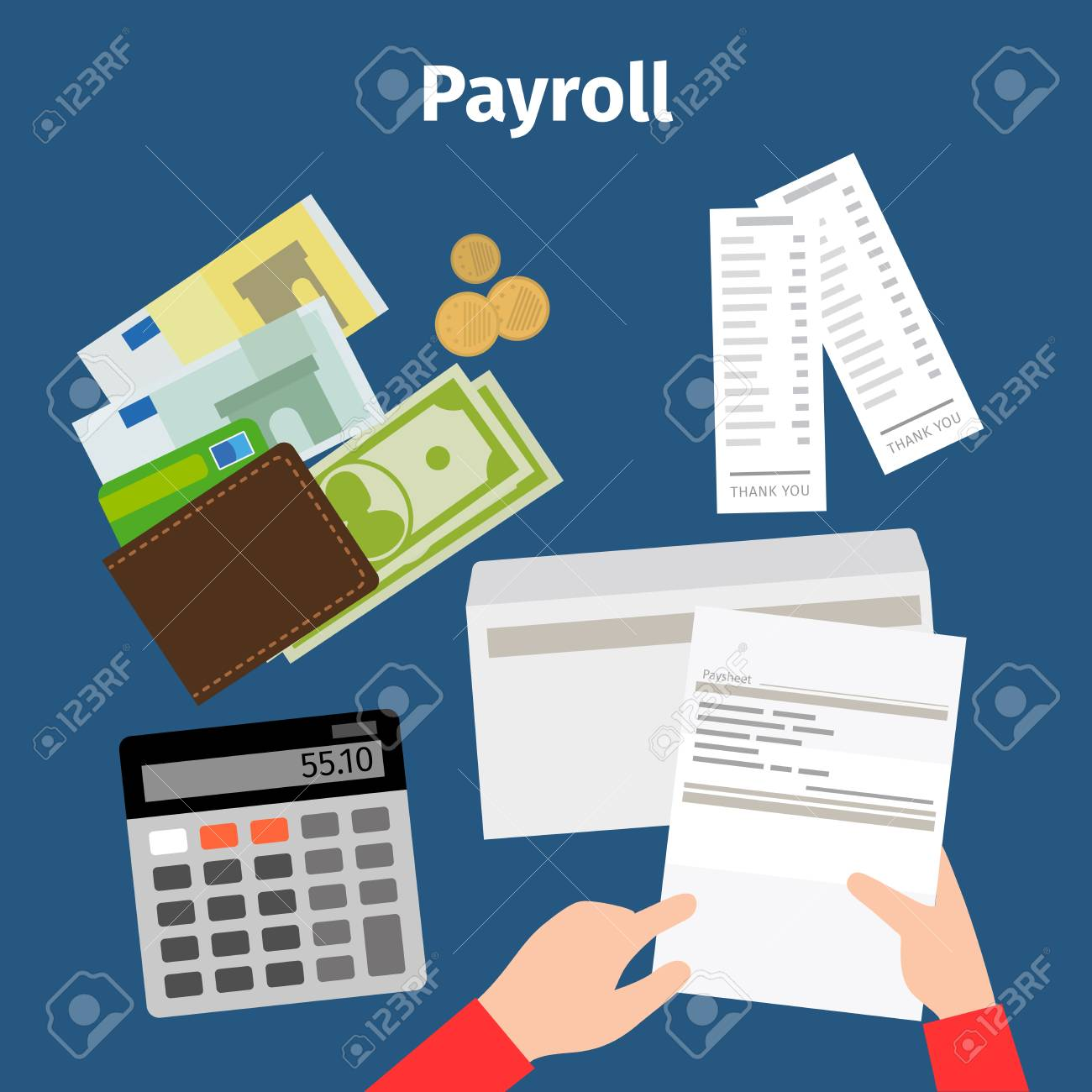 Invoice Sheet, Paysheet Or Payroll Vector Icon Royalty Free Cliparts ...