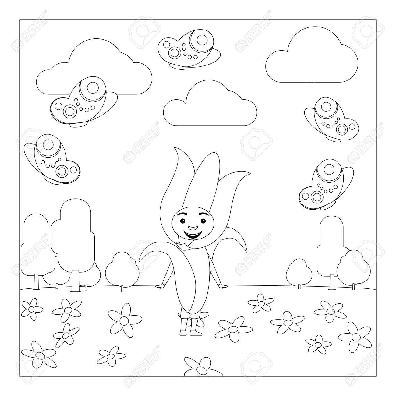 Vistoso Flores Para Colorear Páginas Para Jardín De Infantes ...