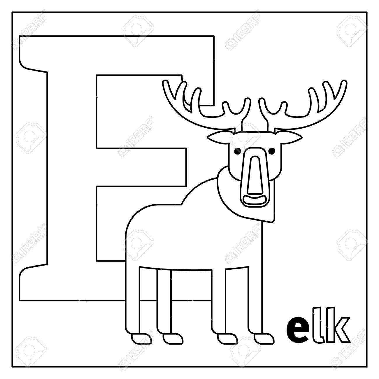 Malvorlage Oder Karte Für Kinder Mit Englisch Tiere Zoo Alphabet
