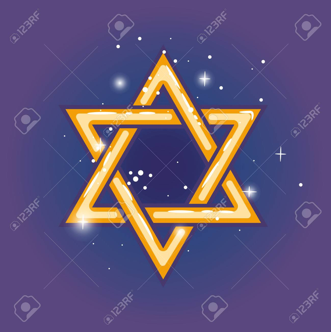 Star of david jewish shield zion star for hanuka gold on blue star of david jewish shield zion star for hanuka gold on blue background vector biocorpaavc Choice Image