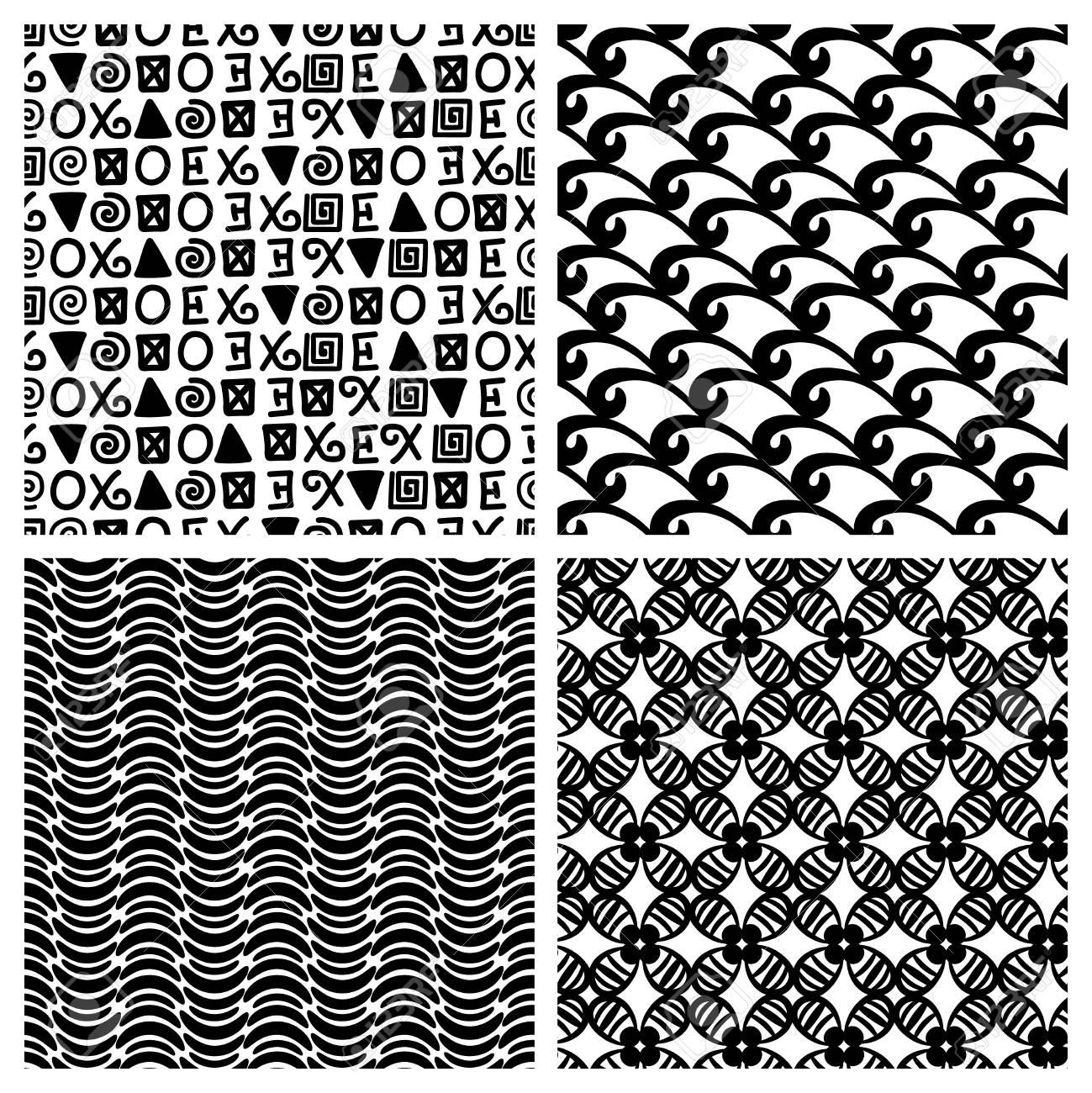 Primitive Decor Texture Blocks Vector Traditional Print Monochrome