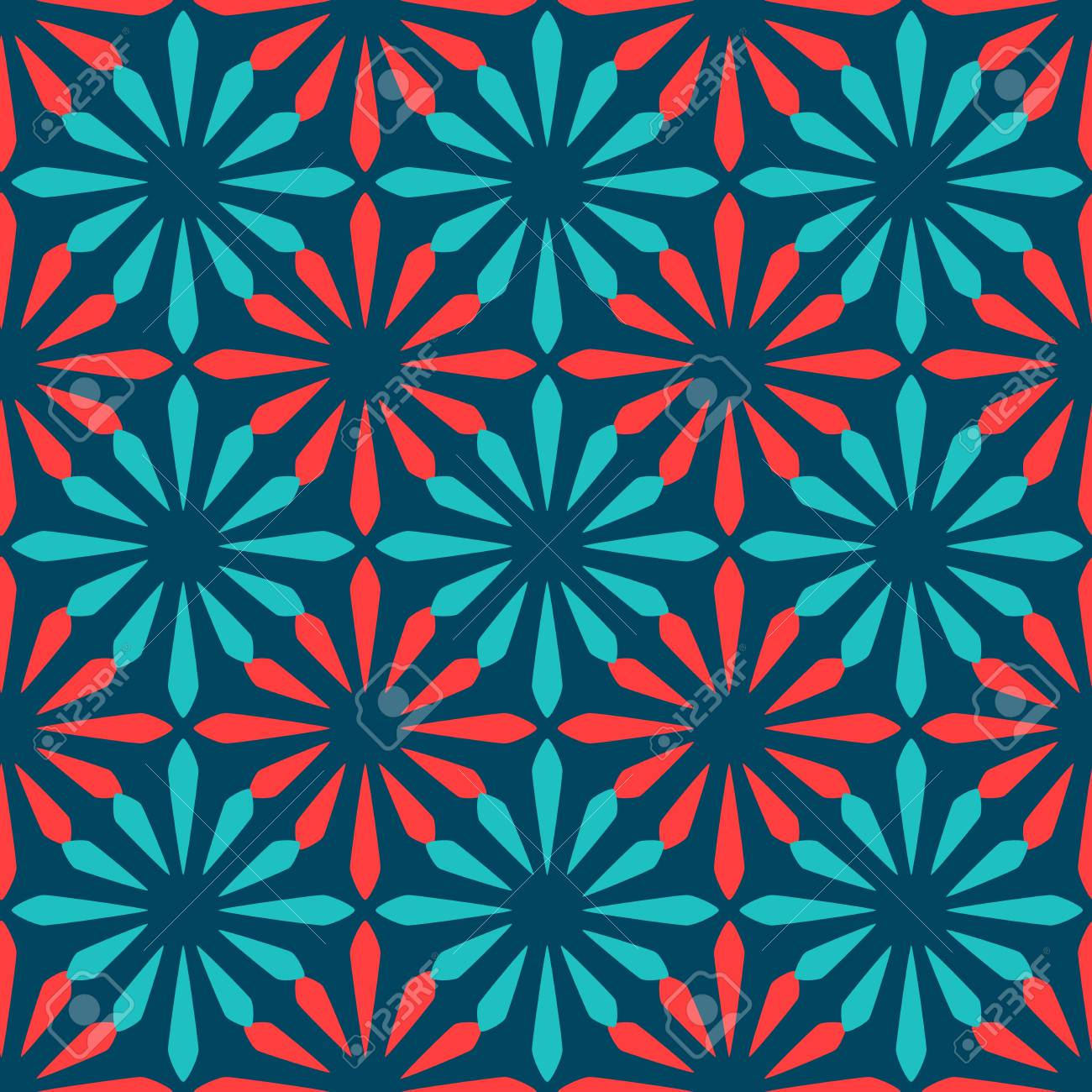 Blue And Red Spanish Ornamental Ceramic Tile Vector Design Royalty ...