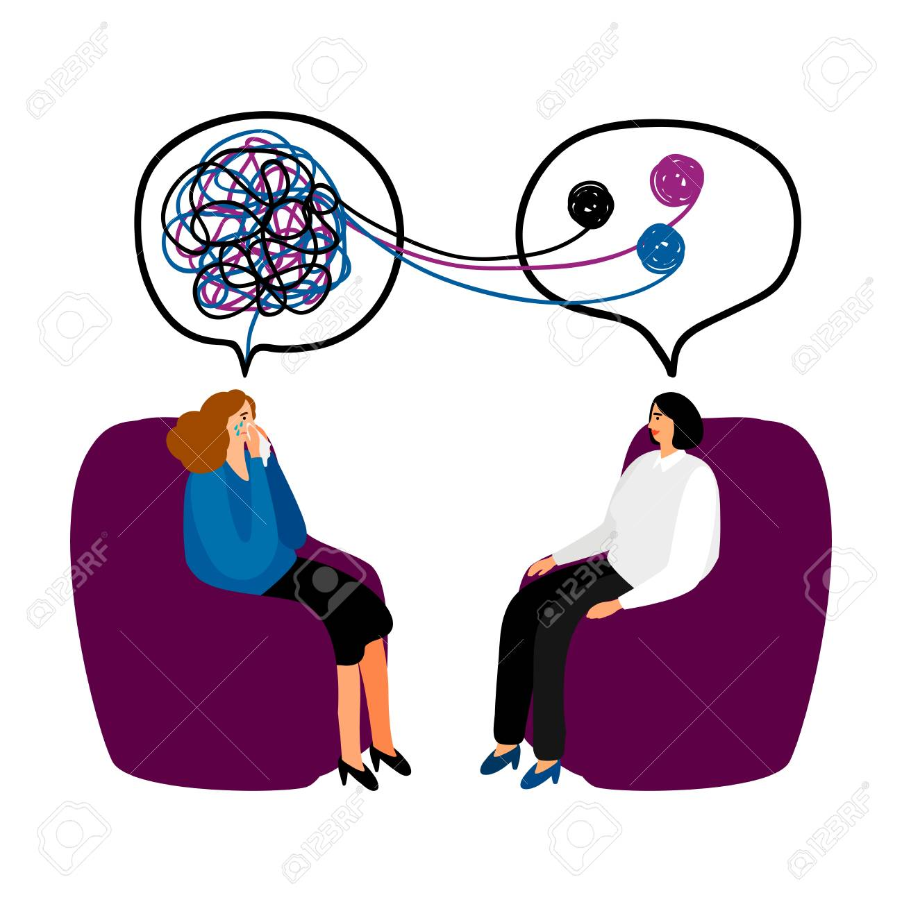 Psychotherapy concept illustration - 104067840
