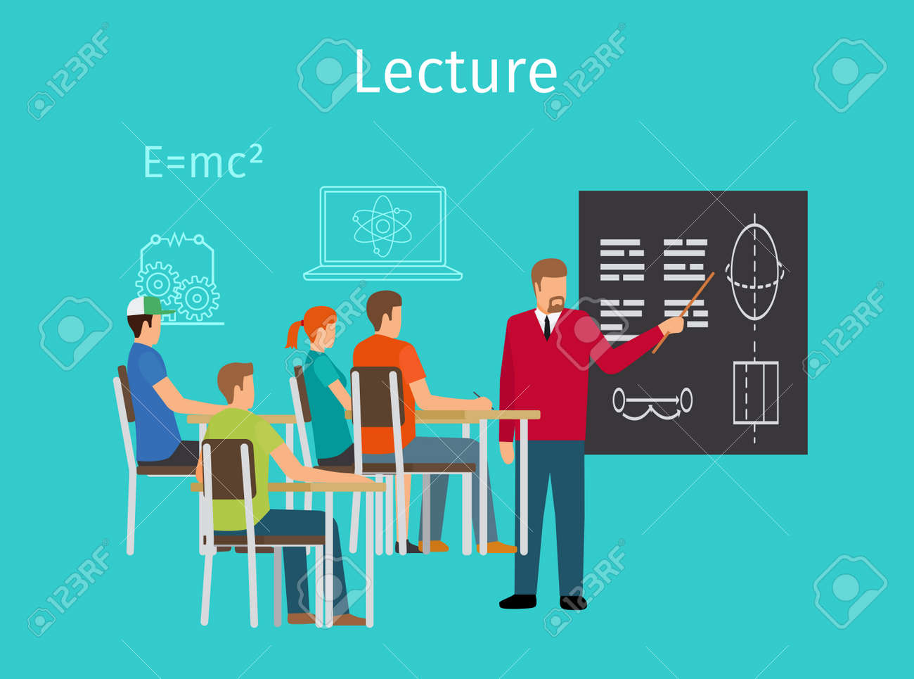 Education concept learning and lectures vector illustration - 166011963