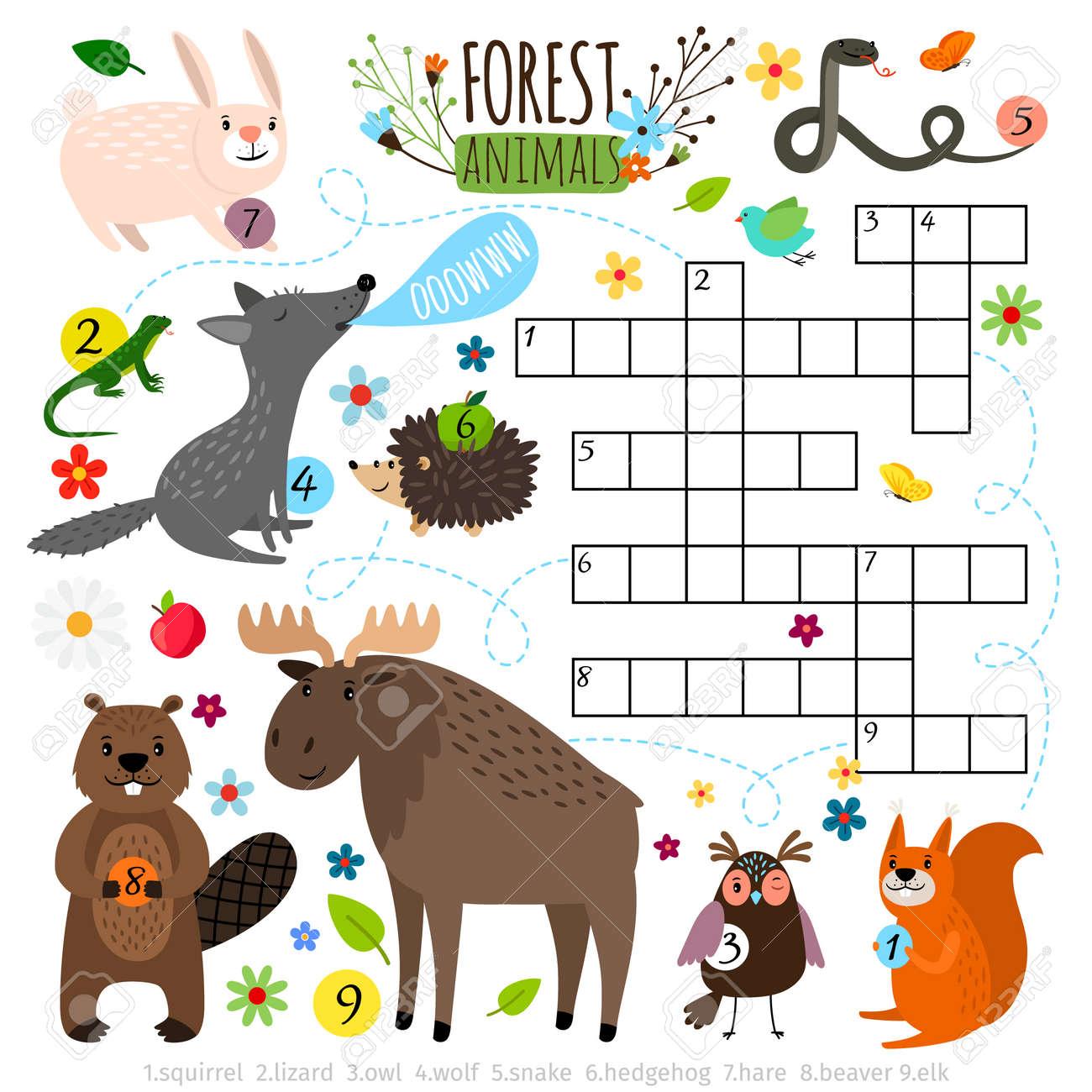 Forest animals crossword puzzle - 167508187