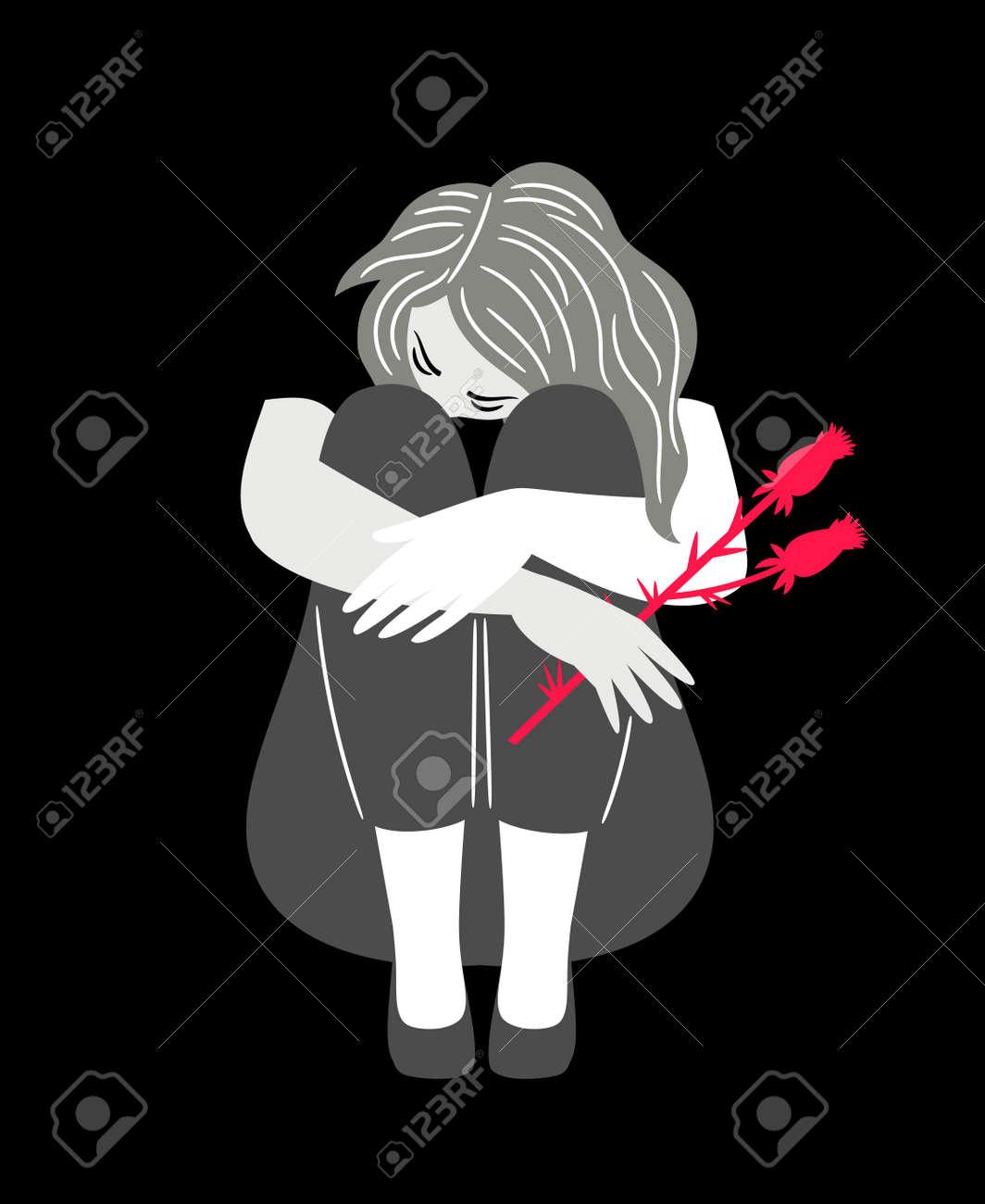 Girl with sad mood - 170222356