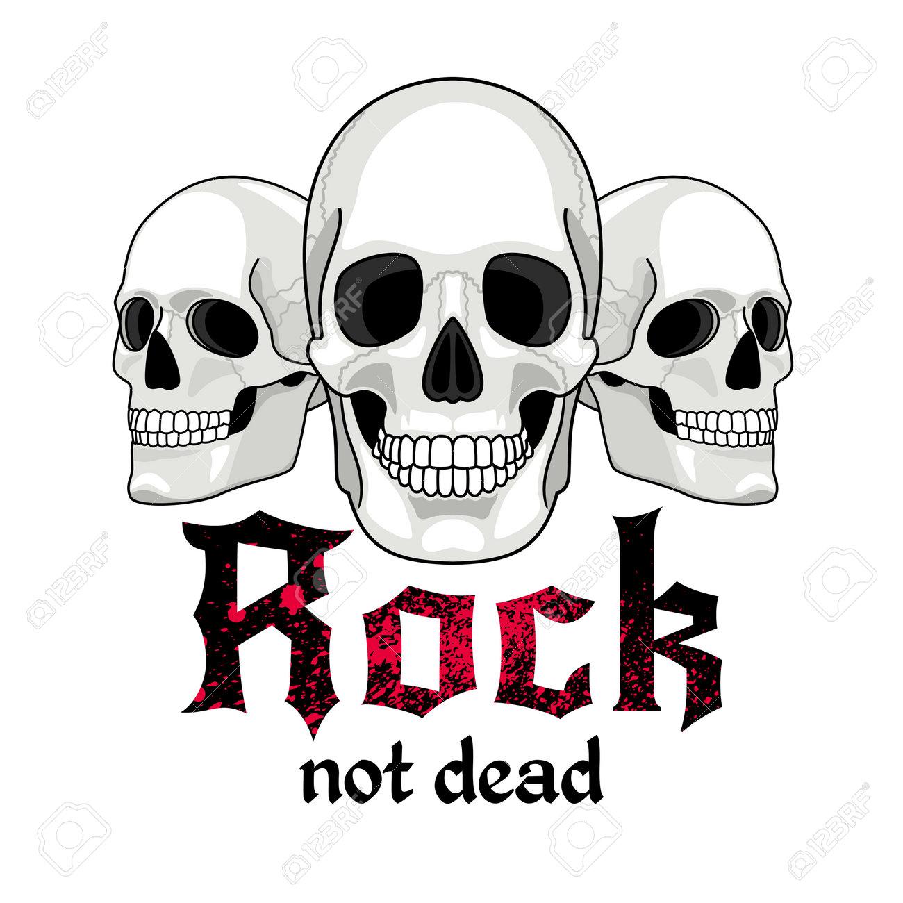 Skulls logo for musical band - 171052839