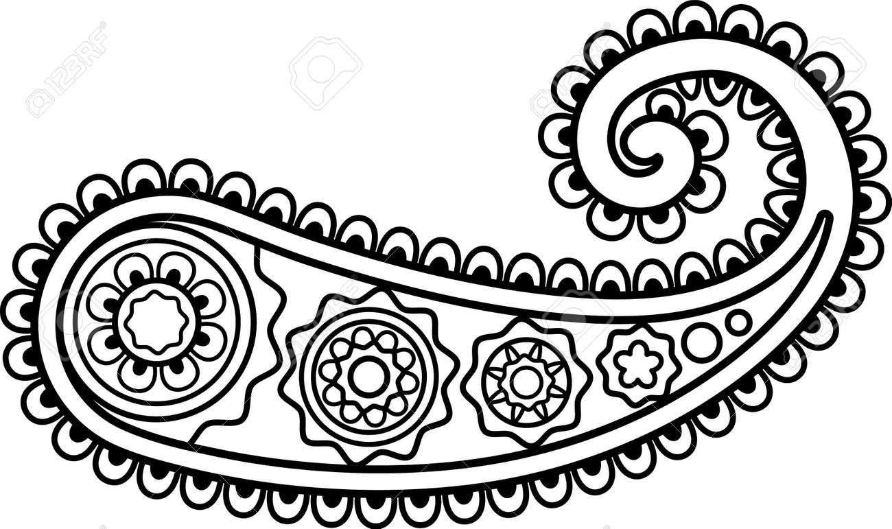 Paisley flower, Boho Design Ethnic Folklore Floral Ornamental - 170995223
