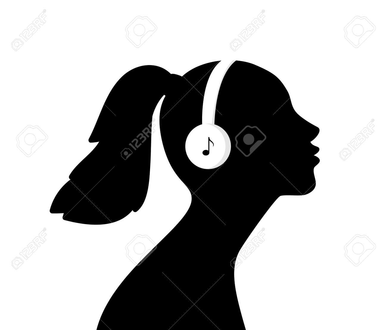 Girl listen music in headphones - 171345005