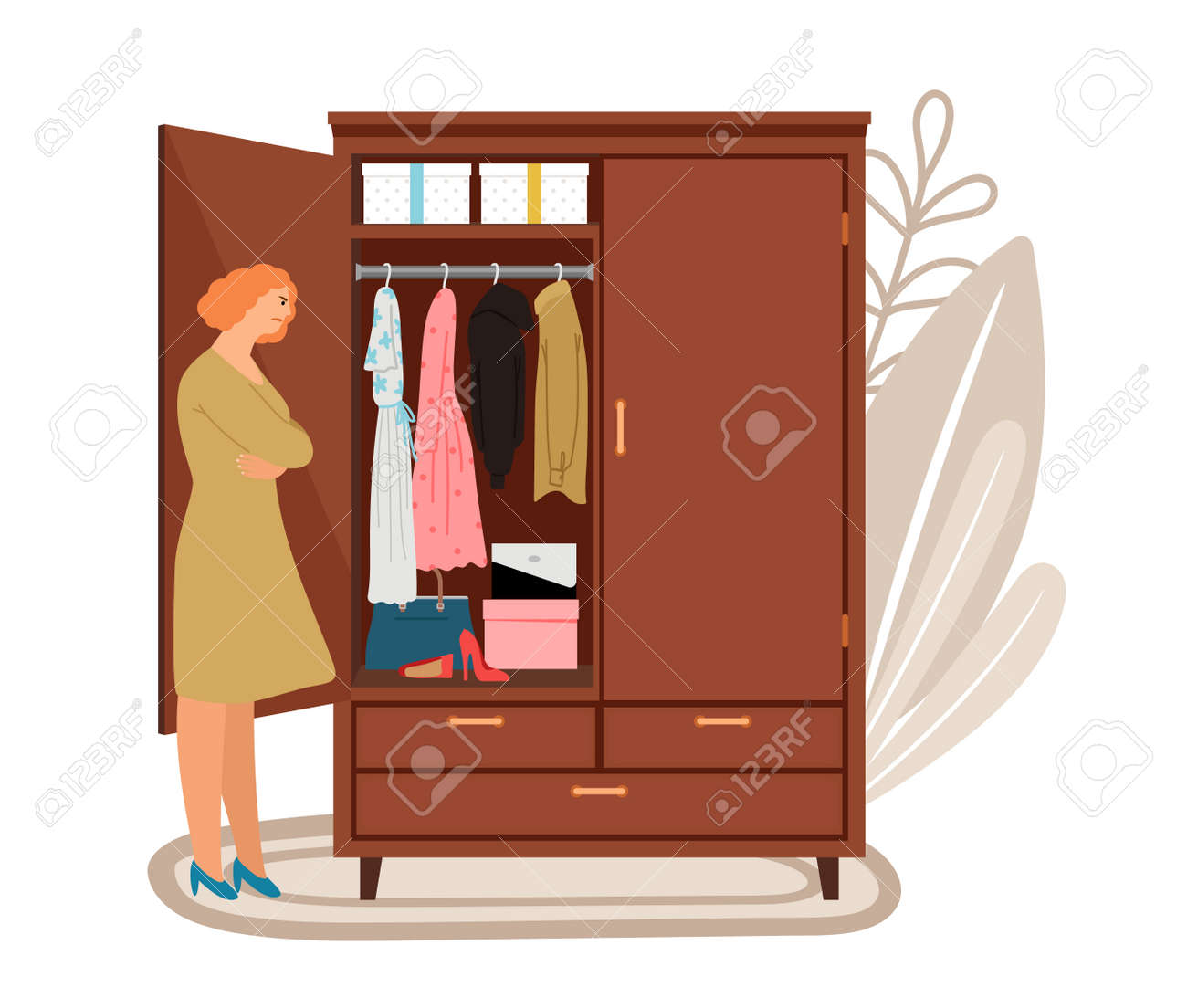 Woman and open wardrope - 171257149