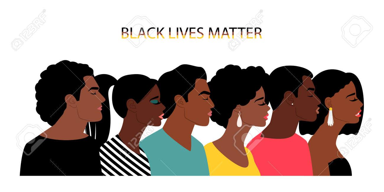Black lives matter people - 171600832