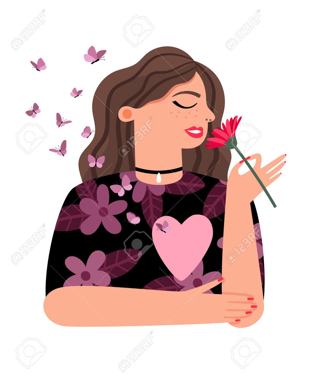 Proud girl loving yourself - 171598618