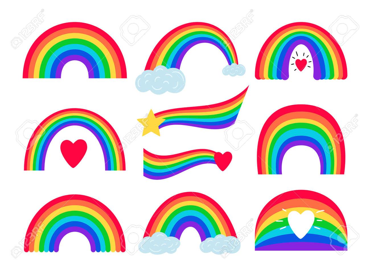 Cartoon rainbow stripes - 171598604