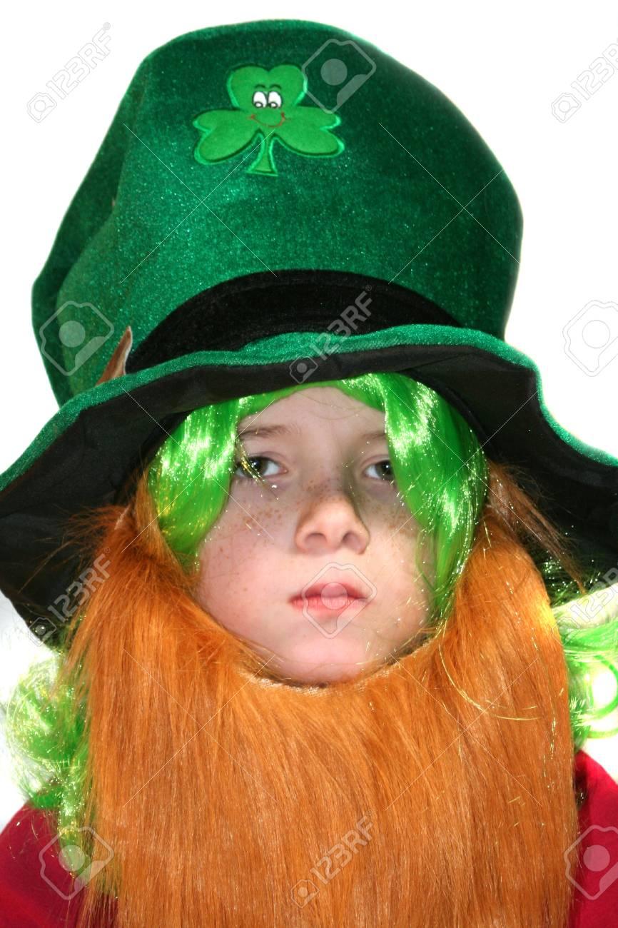 Serious Leprechaun Boy Stock Photo - 16406635