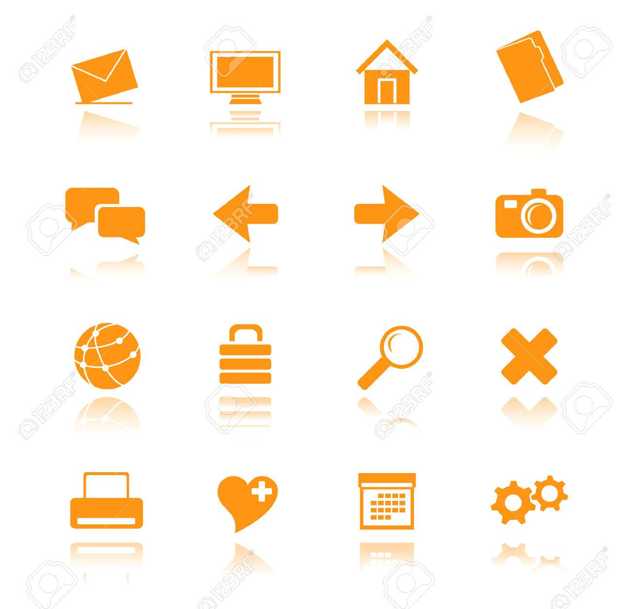 orange icons for web vector Stock Vector - 4912018