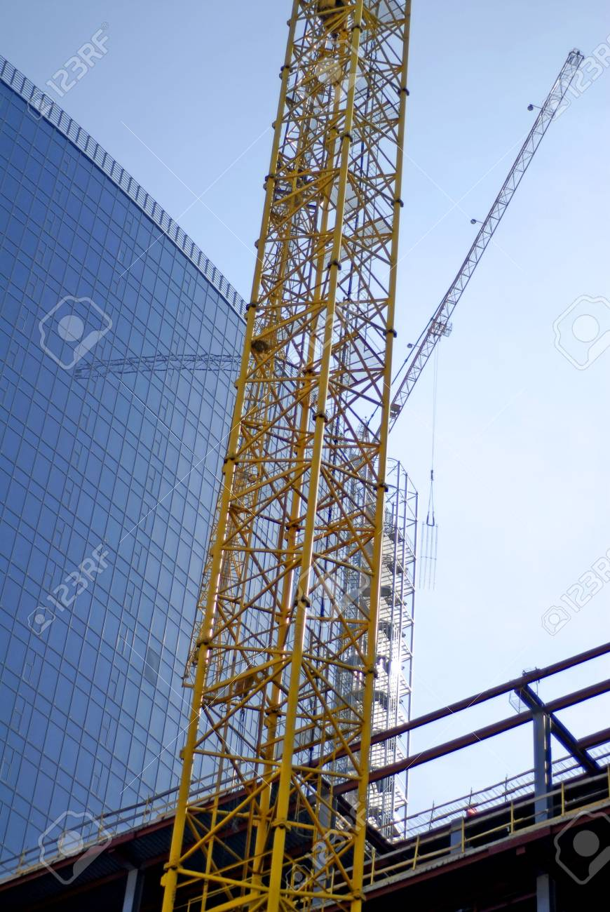 construction of very big building in Ukraine Stock Photo - 4737570