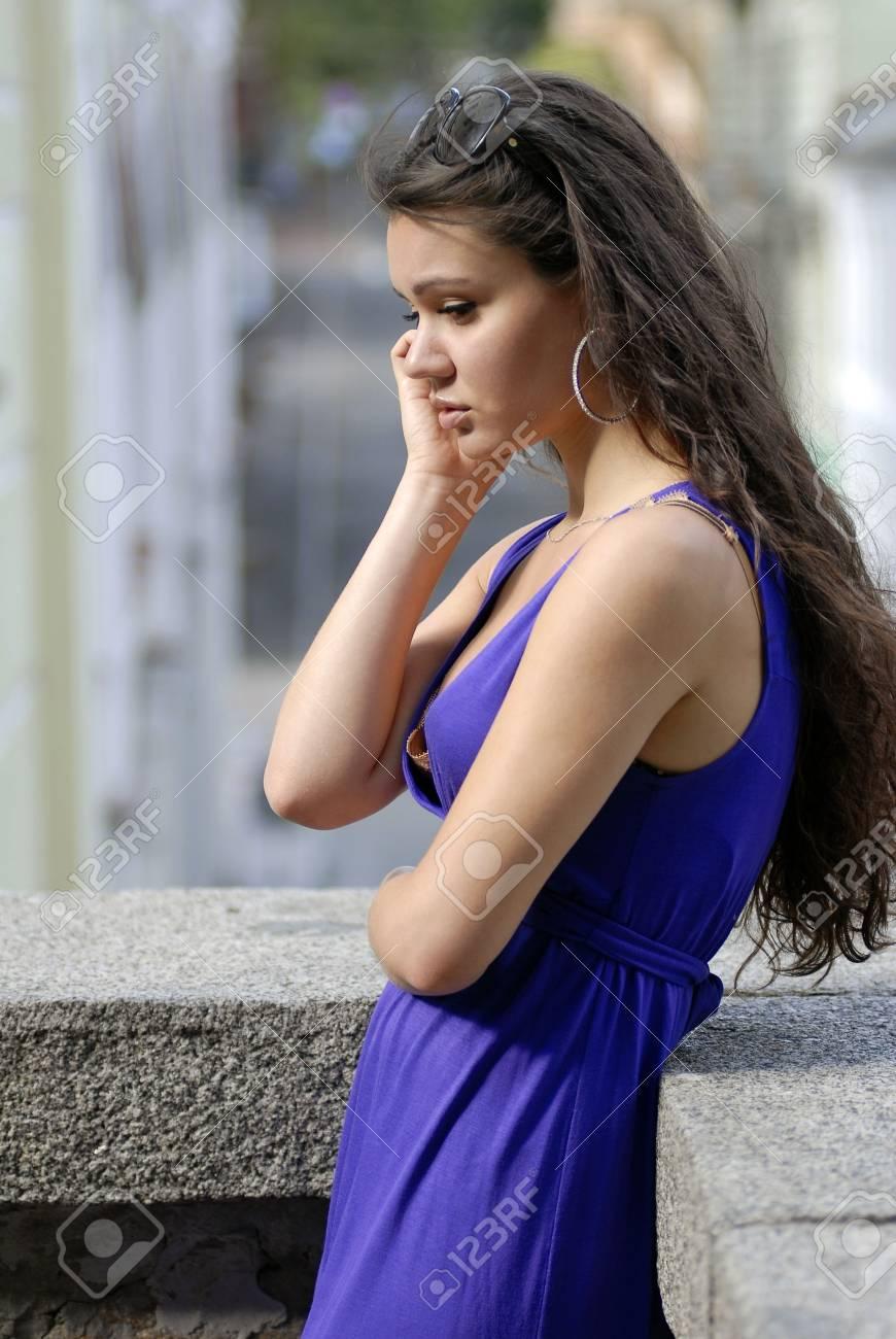 Friendly beautiful woman talking on the phone Stock Photo - 5062541