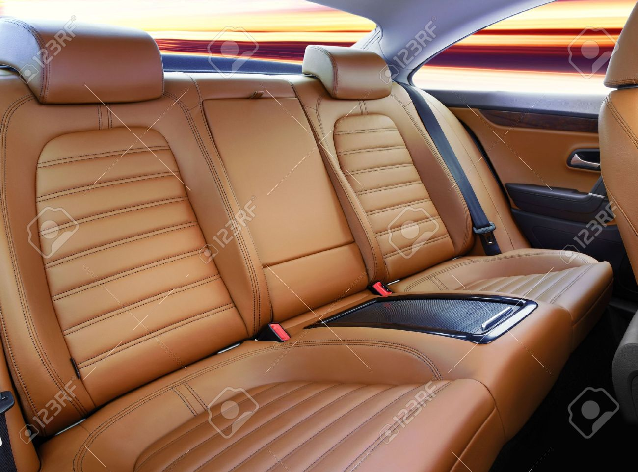 back passenger seats in modern luxury comfortable car Stock Photo - 7501024