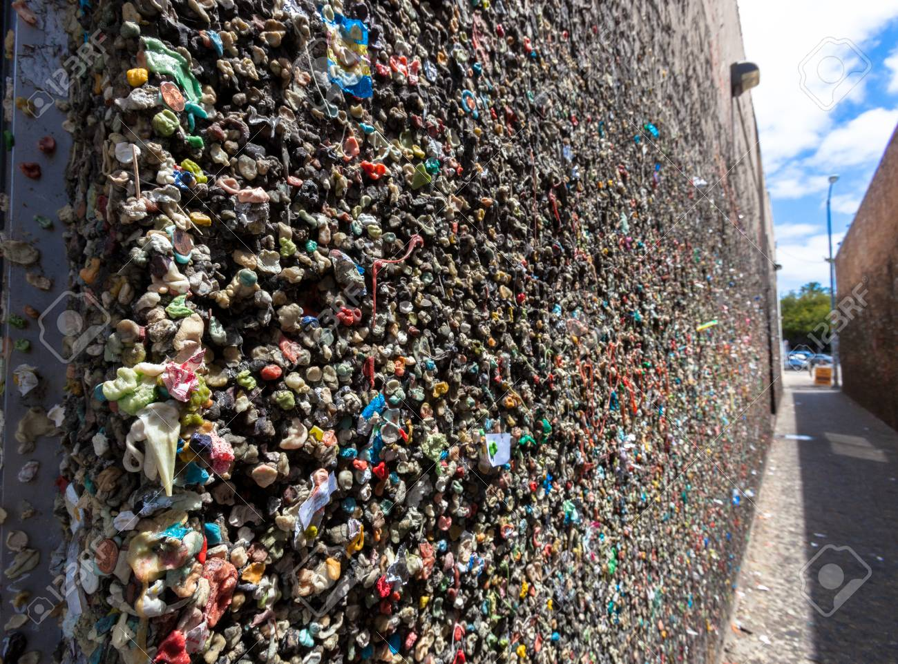 Bubblegum Alley San Luis Obispo California Stock Photo Picture And