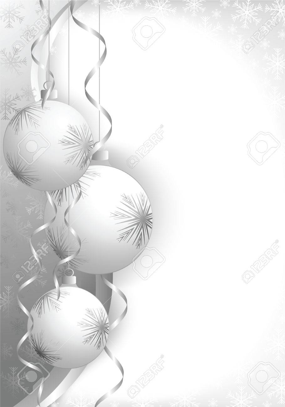 Christmas decoration background with space for text. All elements on separate layers. Stock Vector - 5728594