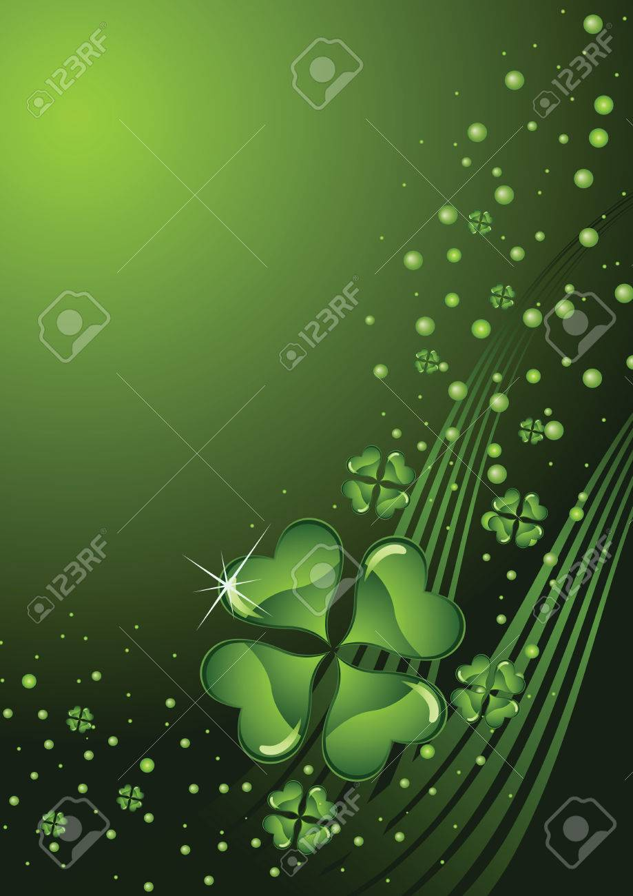 clover background for the St. Patrick's Day Stock Vector - 6389193