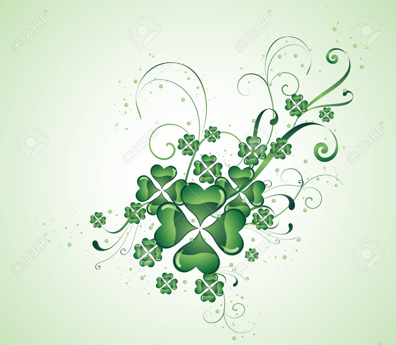 clover background for the St. Patrick's Day Stock Vector - 6389196
