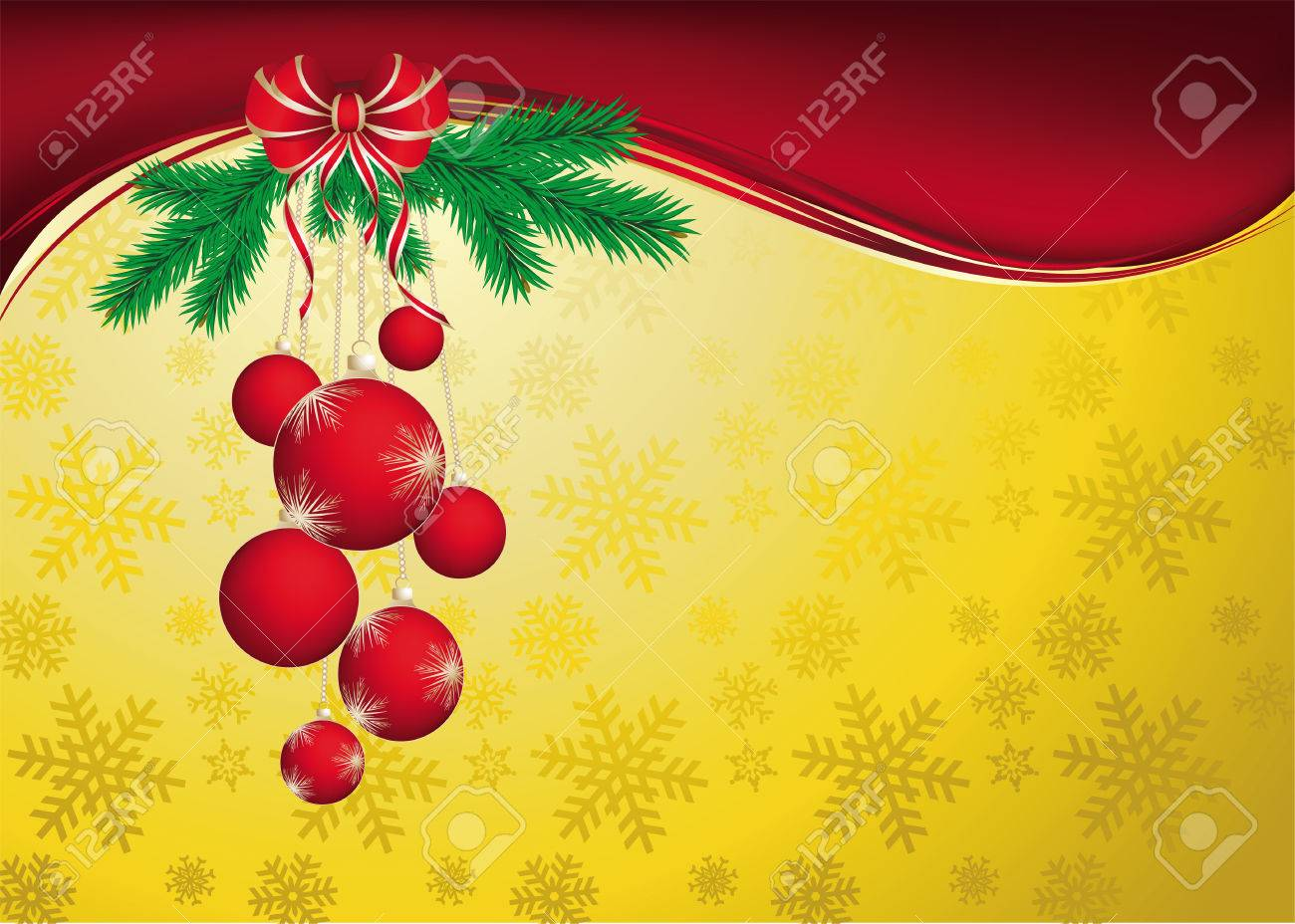 Vector Christmas & New-Year's greeting card Stock Vector - 8189197