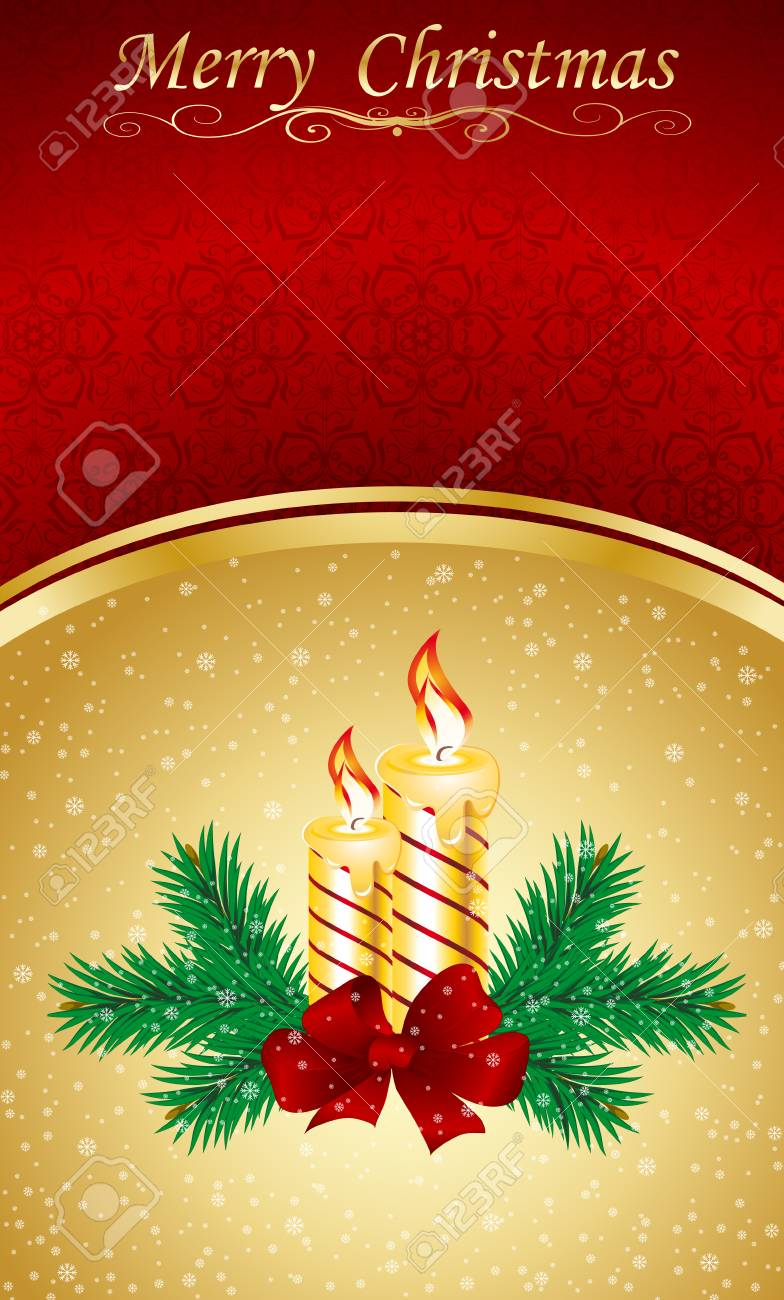 Vector Christmas & New-Year's greeting card Stock Vector - 8259481