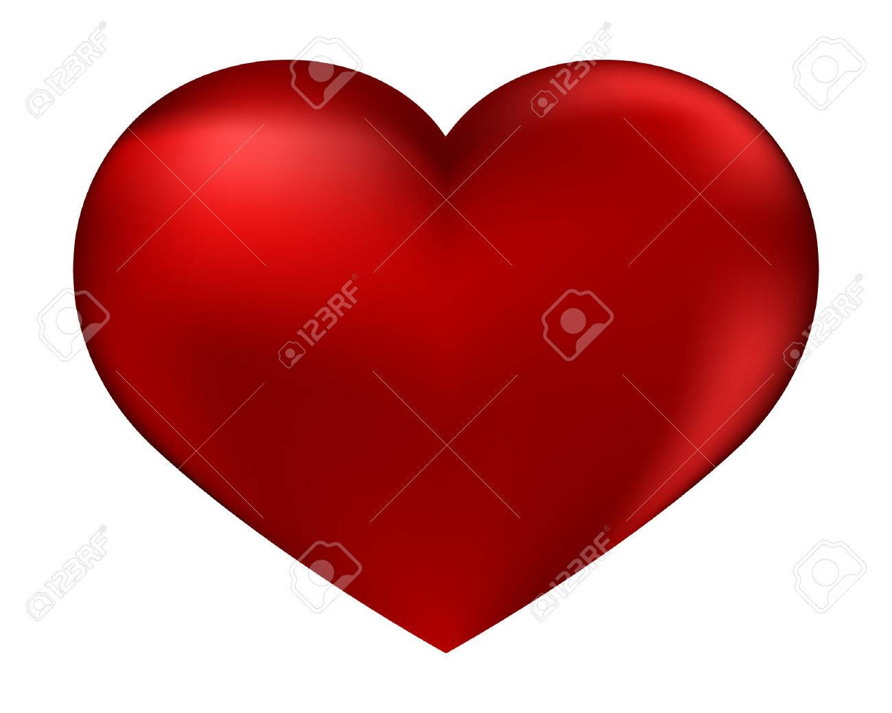 The isolated red heart on a white background by day of sacred Valentine Stock Vector - 8696178