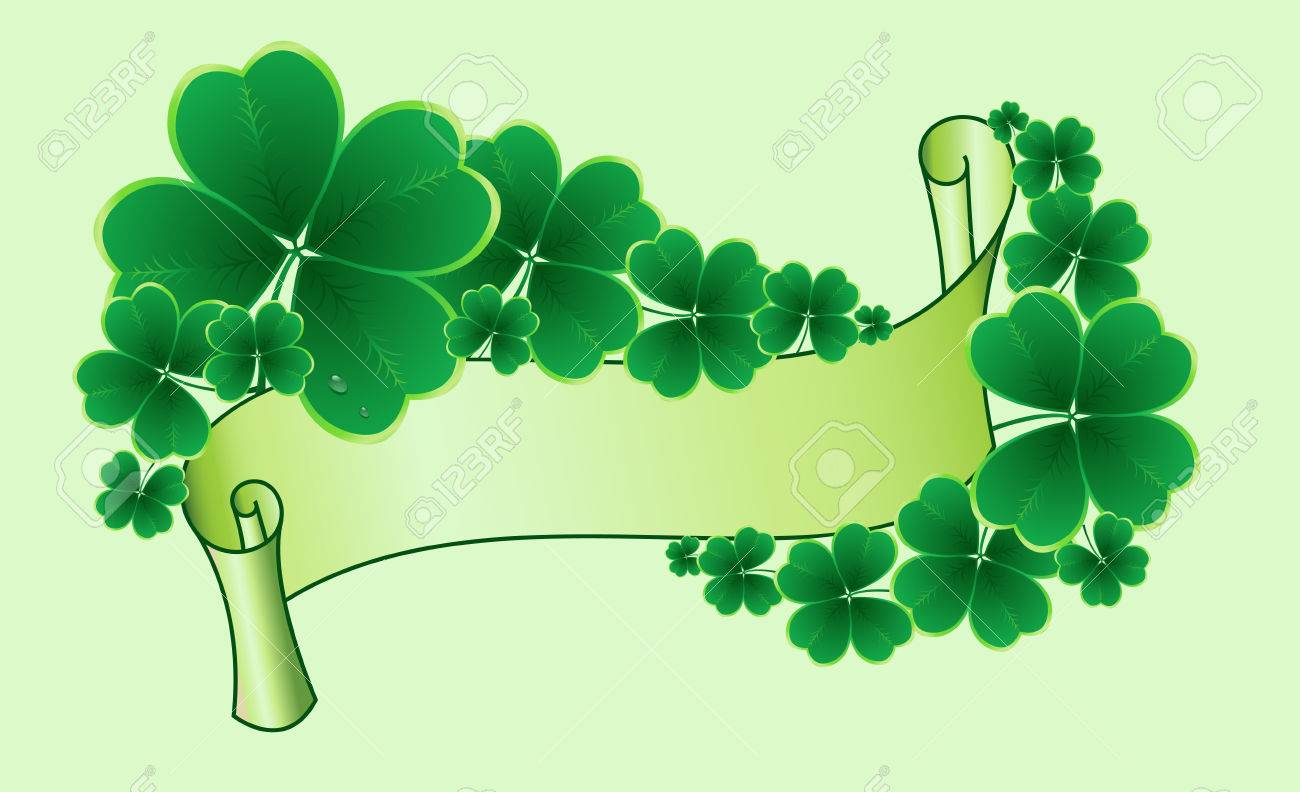 clover background for the St. Patrick's Day Stock Vector - 8776992