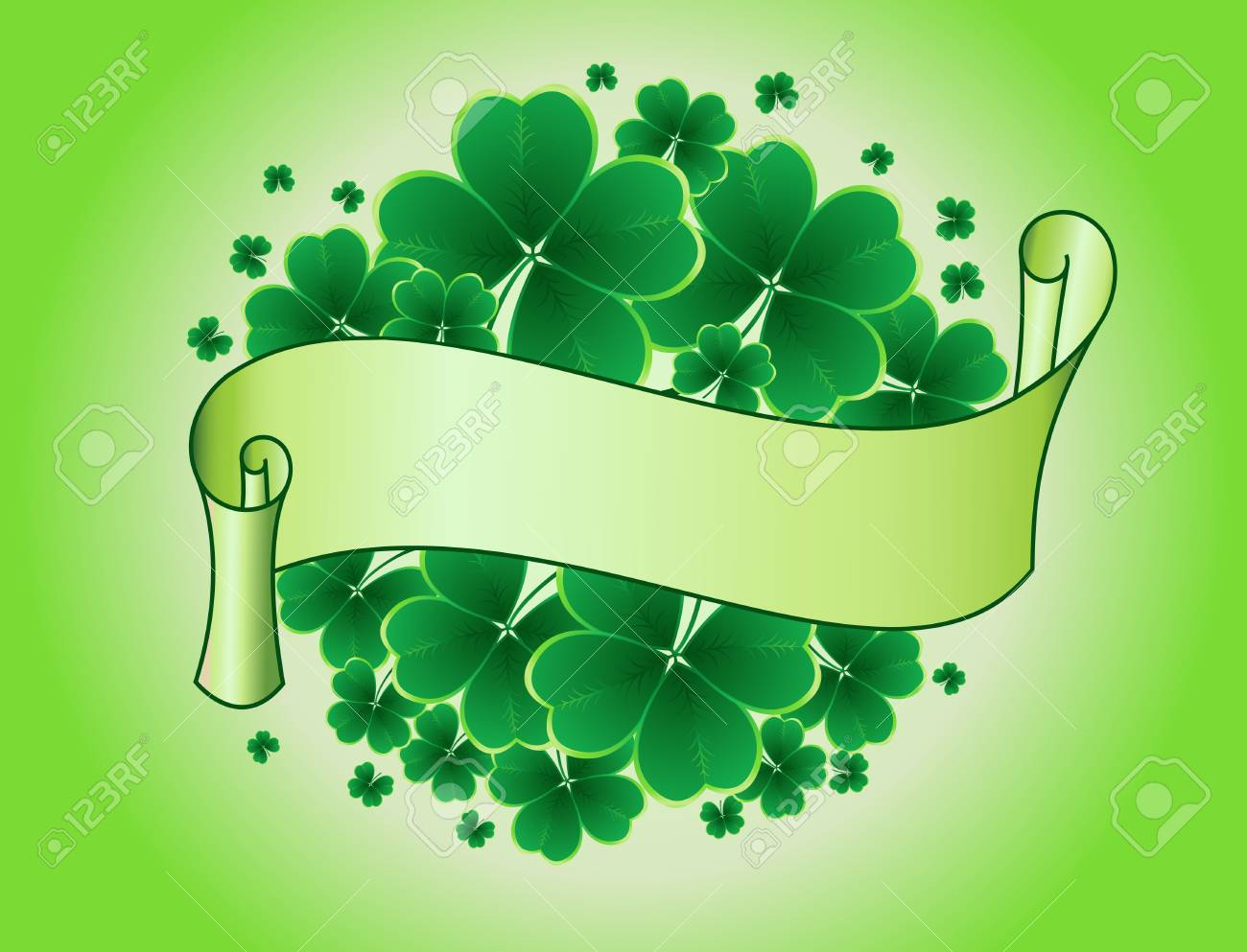 clover background for the St. Patrick's Day Stock Vector - 8776994