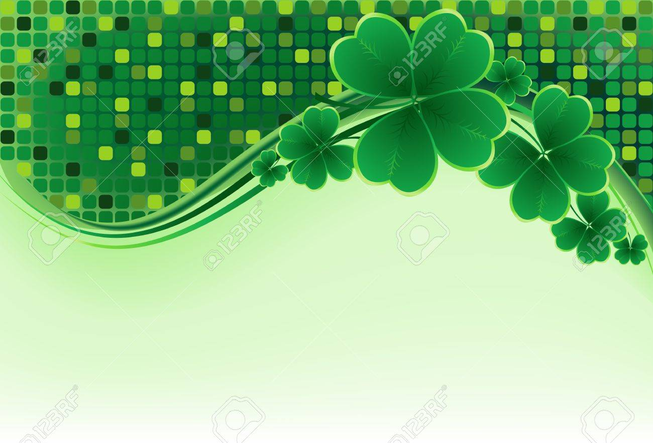 clover background for the St. Patrick's Day Stock Vector - 12480416