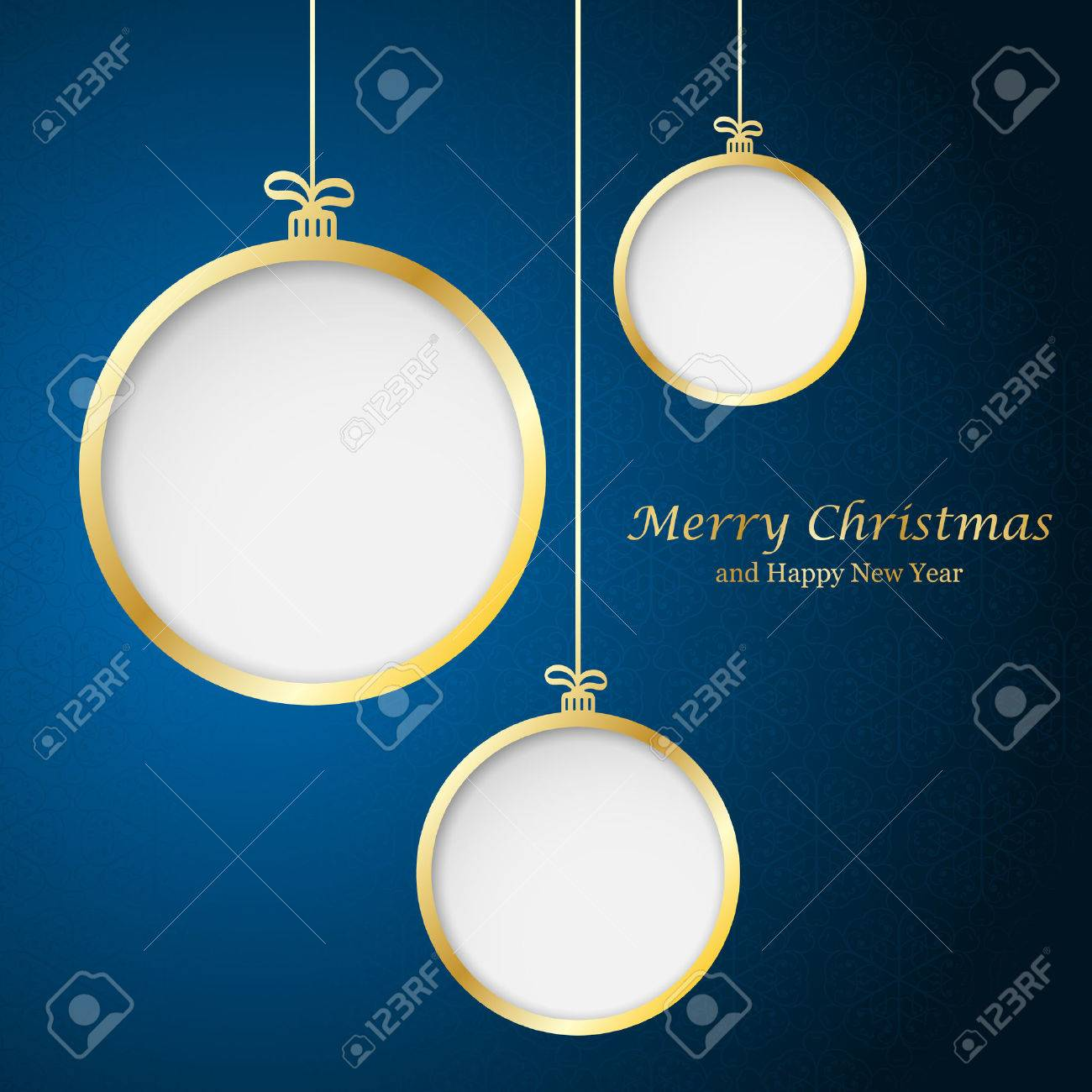 Abstract Christmas ball cutted from paper on background. Vector illustration - 47538297