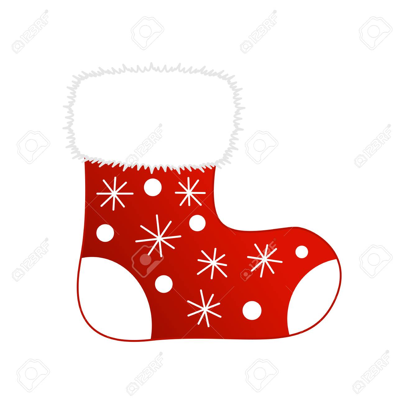 Vektor-Illustration Von Glänzenden Roten Weihnachts-Strumpf Mit ...