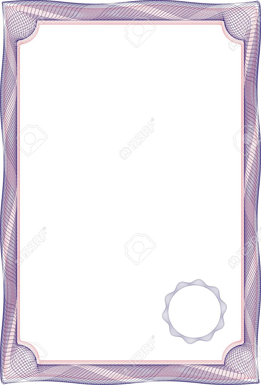 Certificats Cadre Modèle Vierge Pour Un Certificat Ou Diplôme