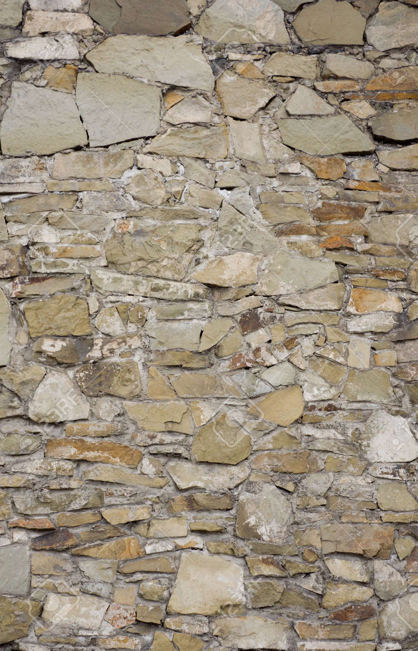 Stone wall of the ancient fort, texture Stock Photo - 898714