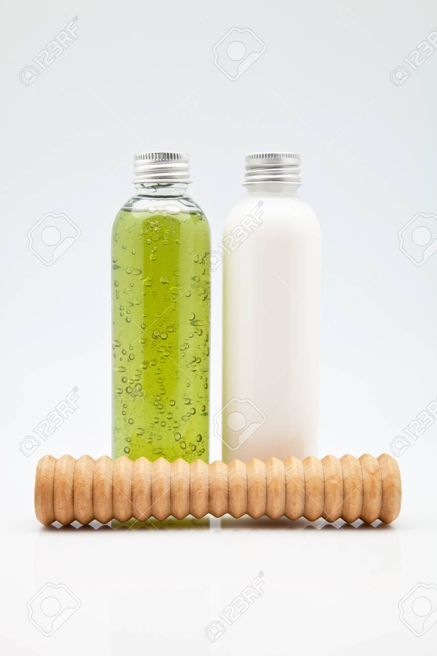 body lotion gel, soaps and oils Stock Photo - 12144222