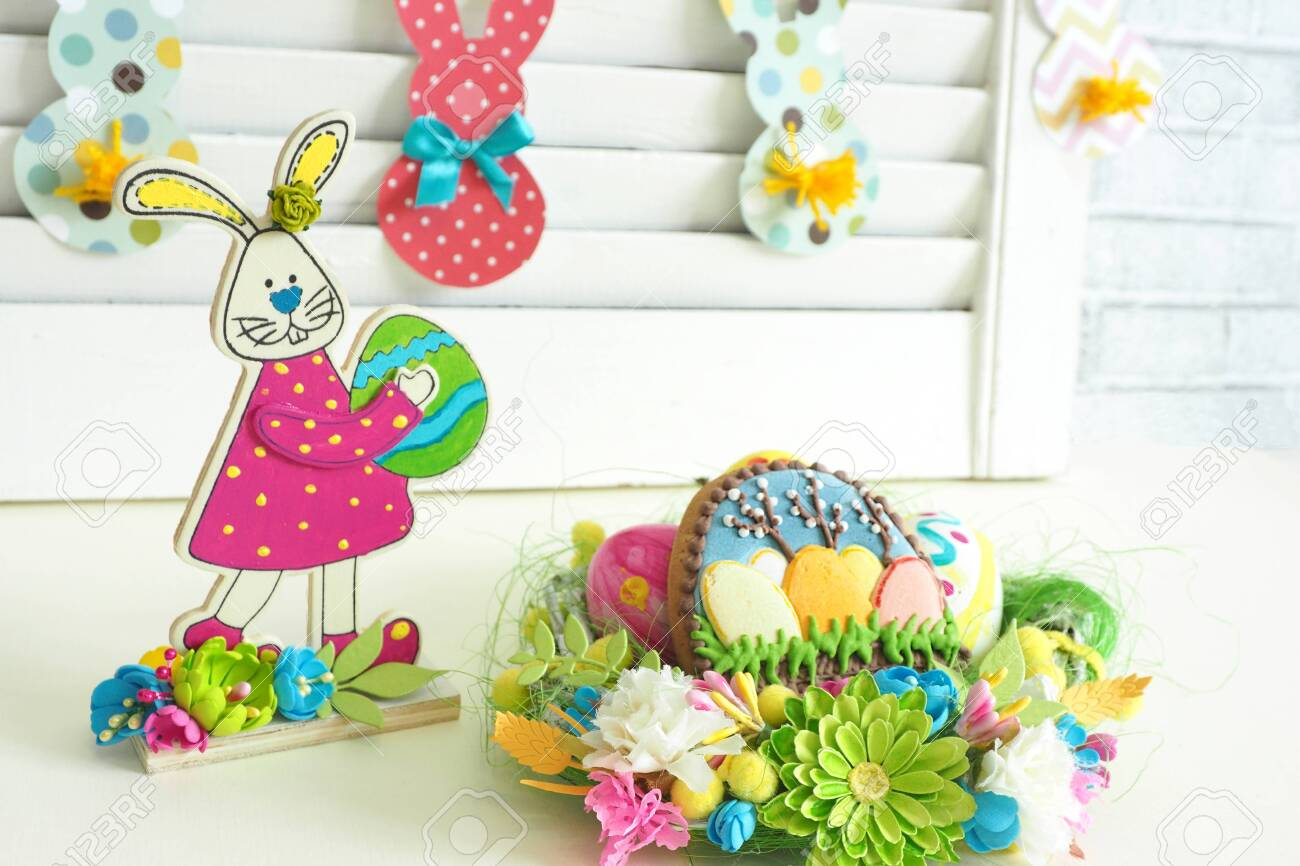 Supplies Handcraft Wood Crafts Easter Rabbit Home