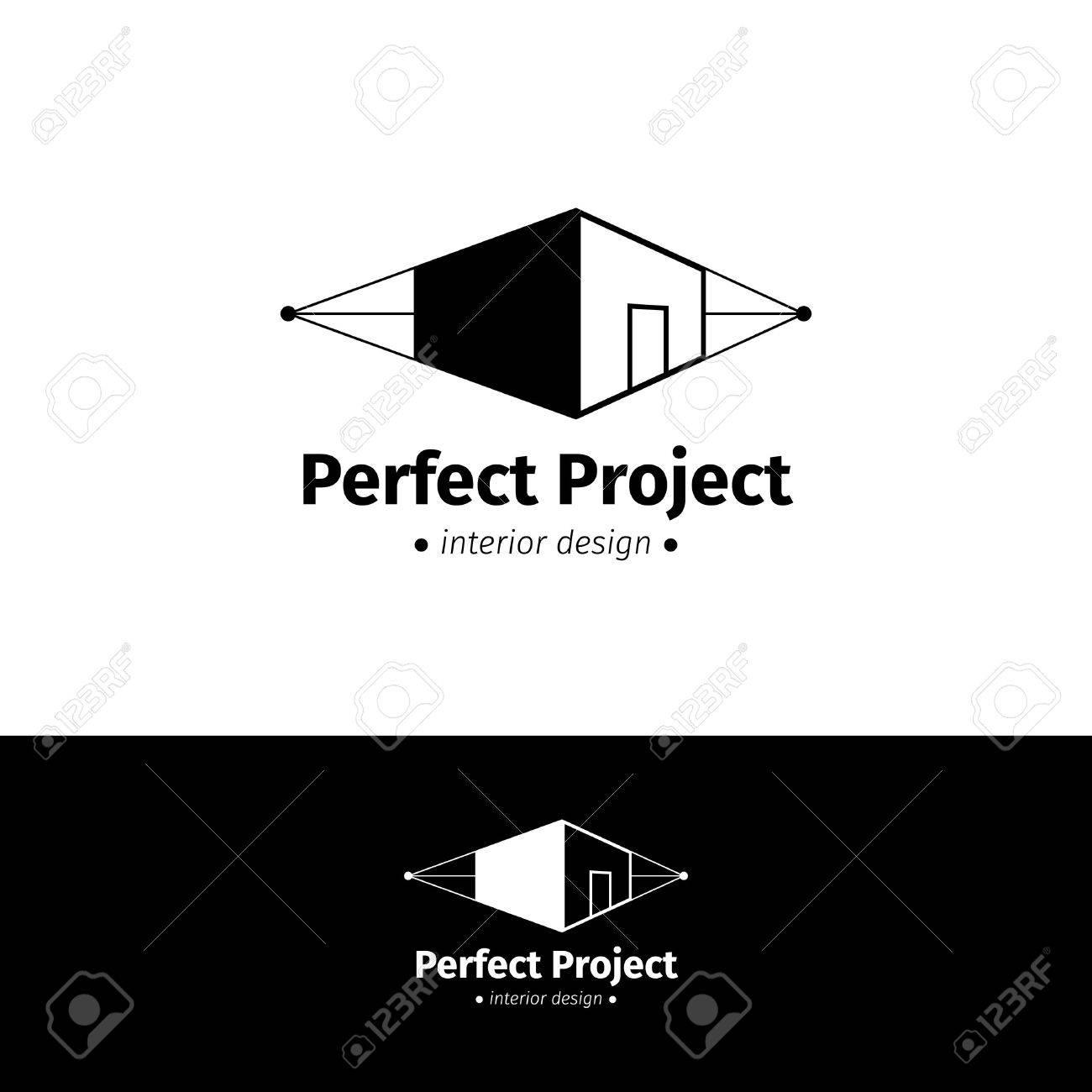 Vector Modern Minimalist House Design Logo Royalty Free Cliparts