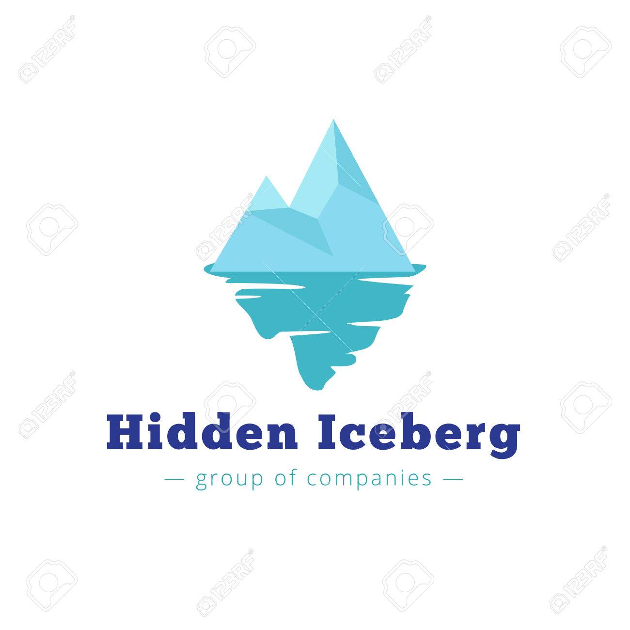 the latest f45a4 0a33a Vector minimalistic blue iceberg. Brand sign