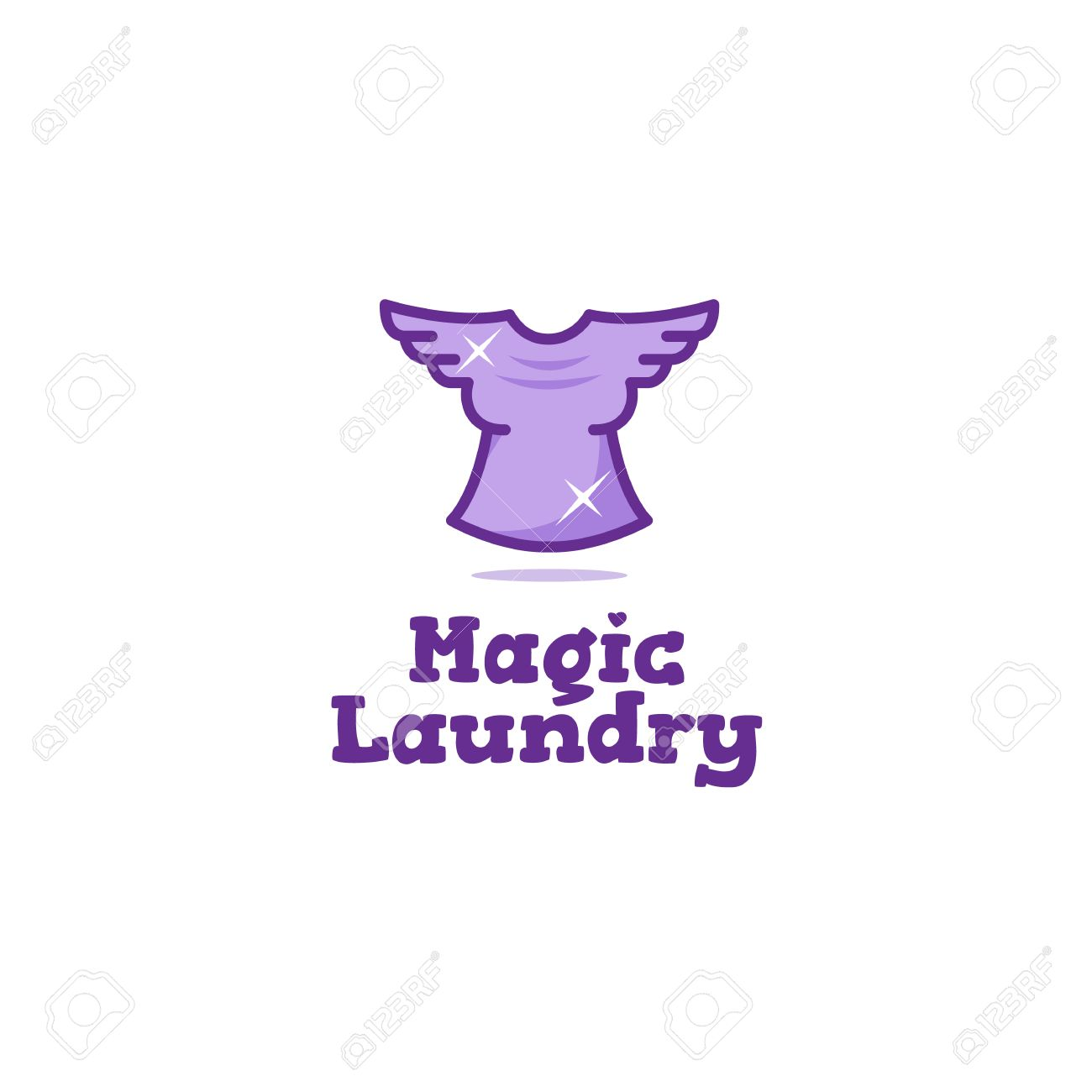Creative laundry logo flying t shirt with wings dry cleaning flying t shirt with wings dry cleaning symbol stock vector buycottarizona Choice Image