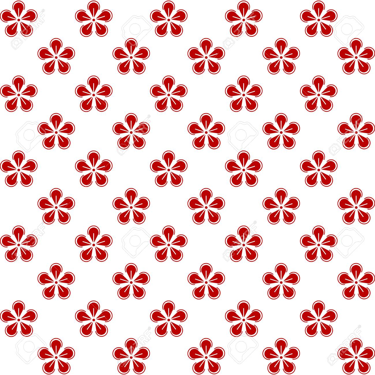 Oriental Asian Traditional Japanese Korean Chinese Floral Patterns