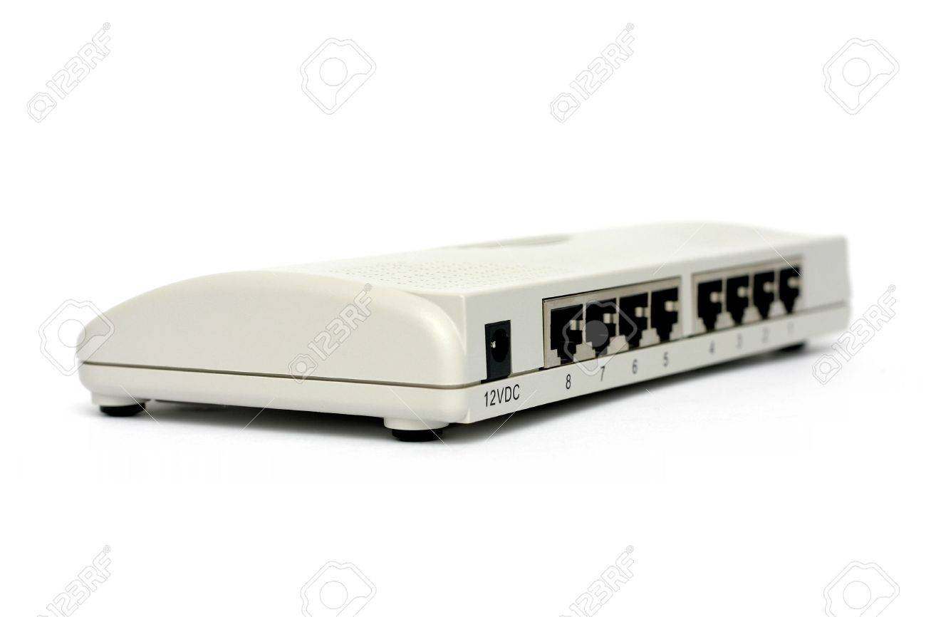 network switch on white background Stock Photo - 251844