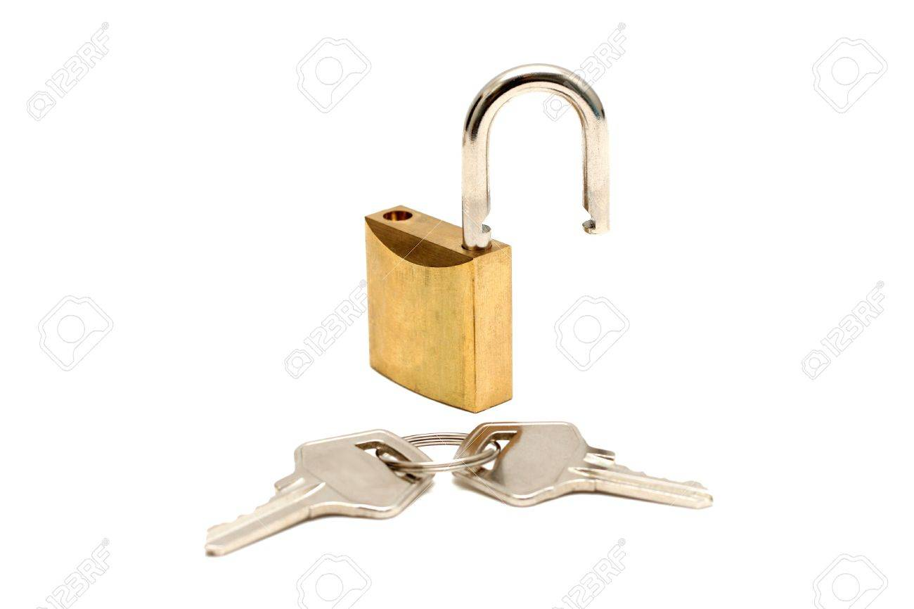 lock and two keys unlocked stock photo picture and royalty free