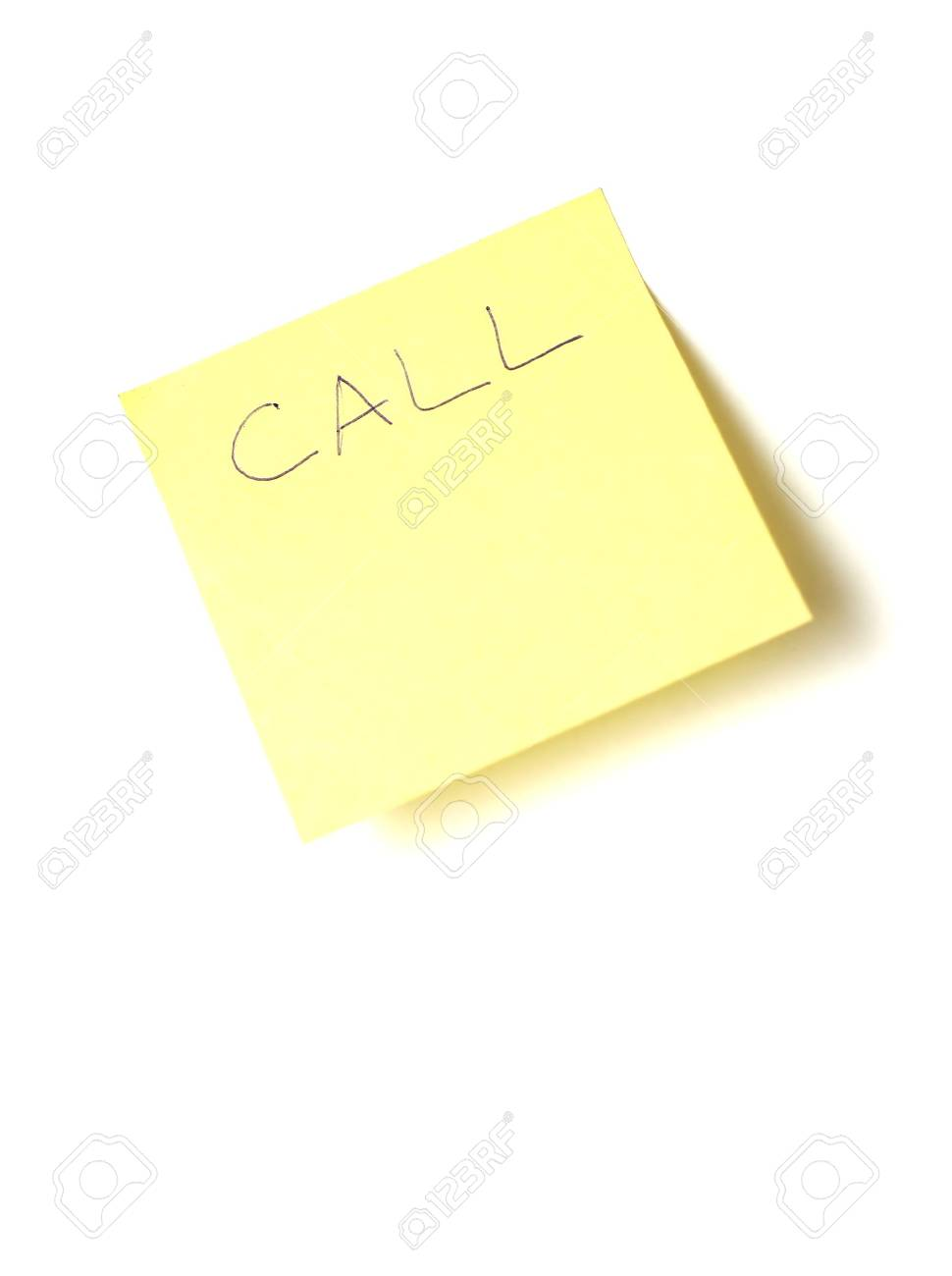 post-it call note Stock Photo - 404608