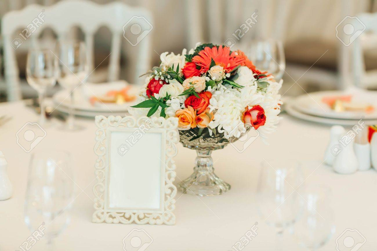 Table Numbers Wedding.Table Decor With Flowers Table Numbers Wedding Banquet Decoration