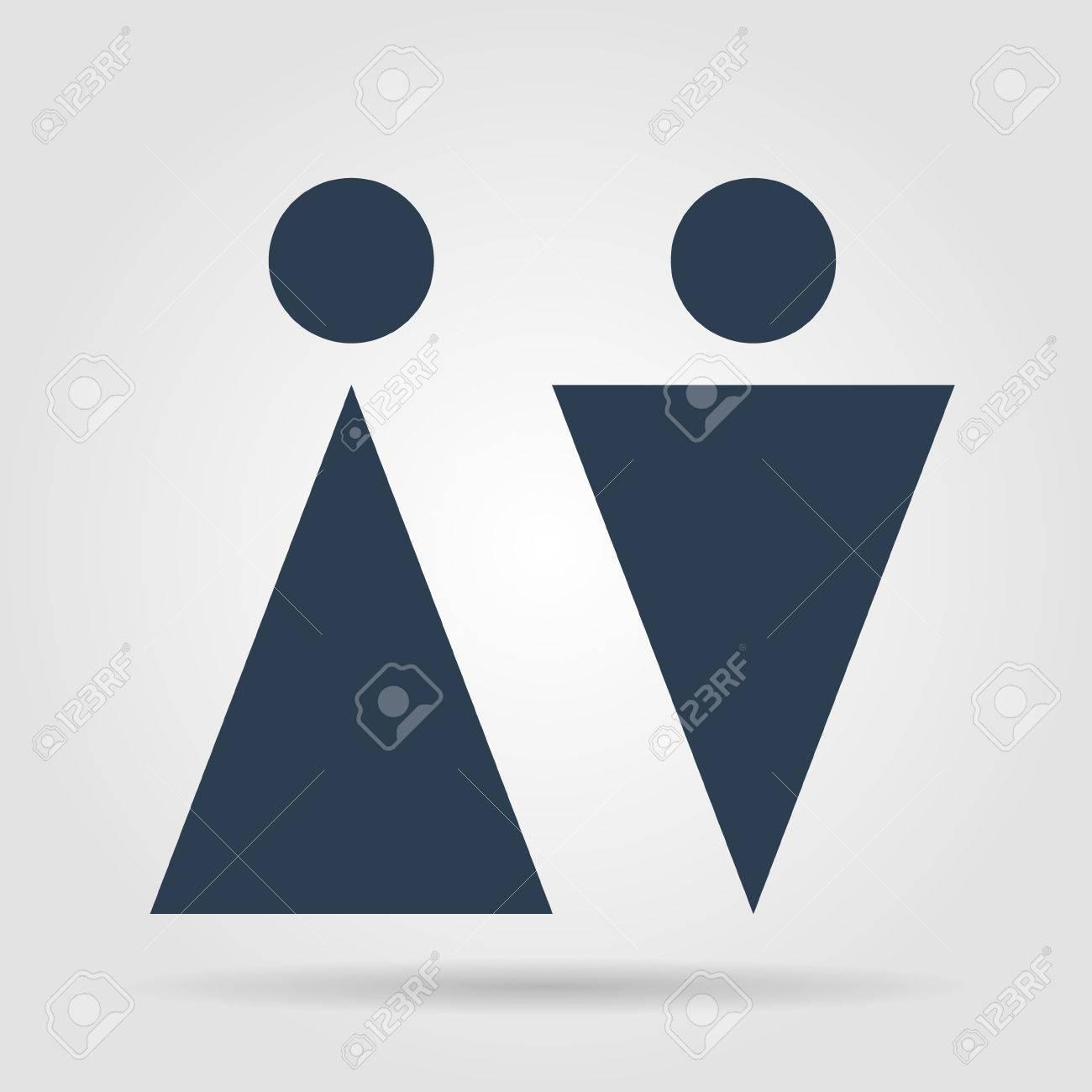 Wc Signer Icône Symbole De Toilettes Wc Homme Et Femme Design