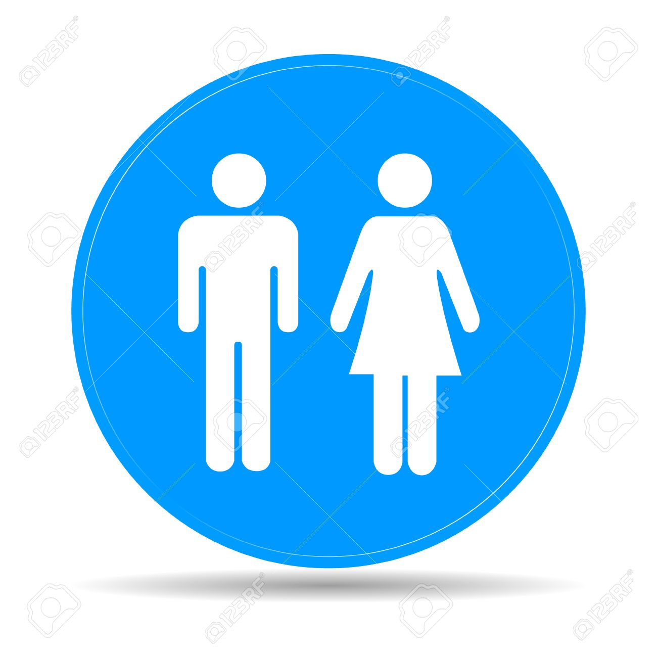 Vector man and woman icons toilet sign restroom icon minimal style  pictogram  Vector Man And. Men Restroom Icon
