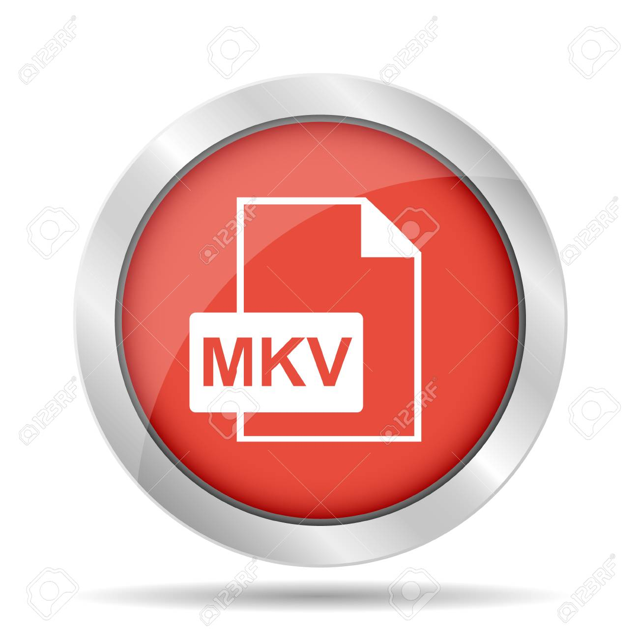 mkv file icon  Flat vector illustrator