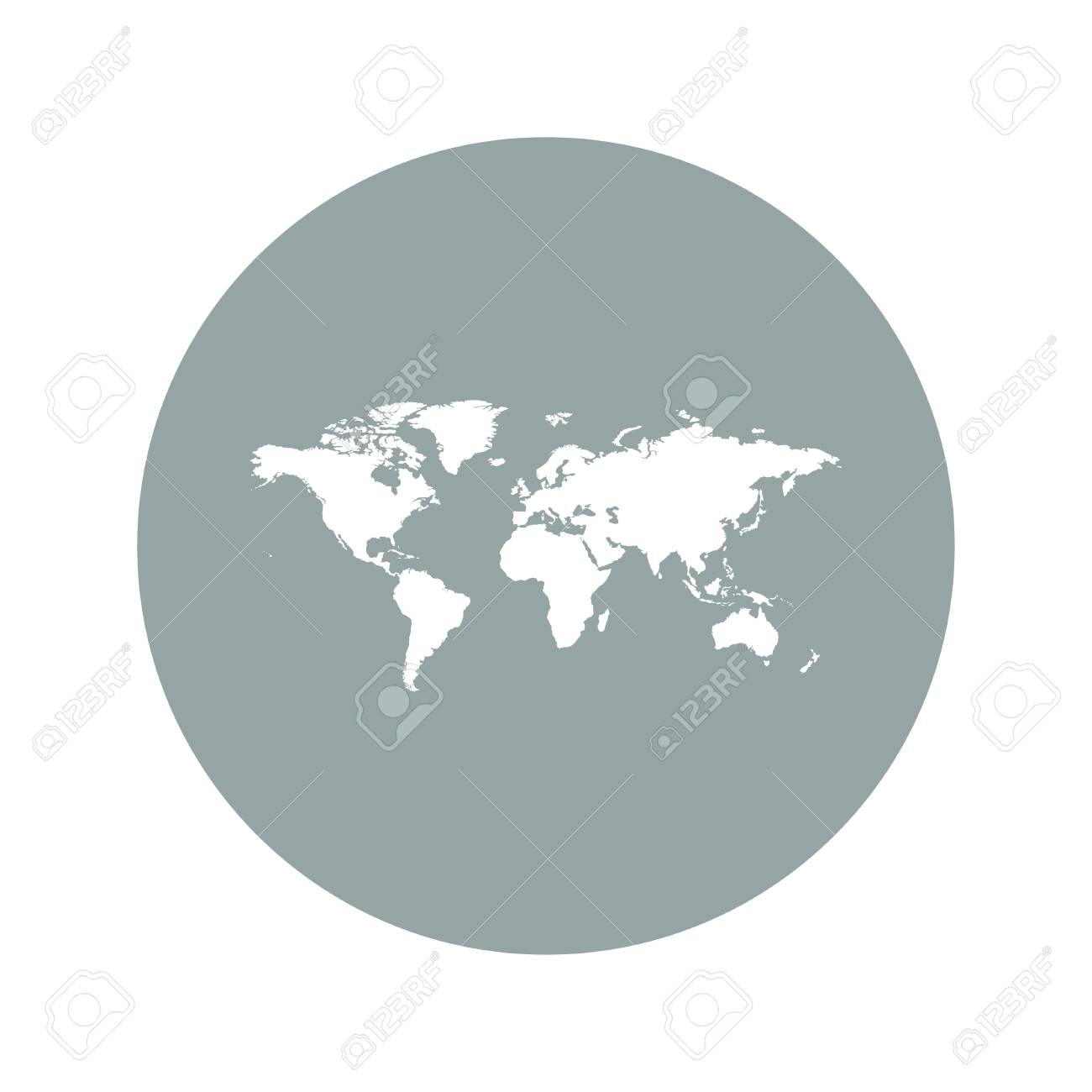 World map illustration flat design style eps 10 royalty free vector world map illustration flat design style eps 10 gumiabroncs Image collections